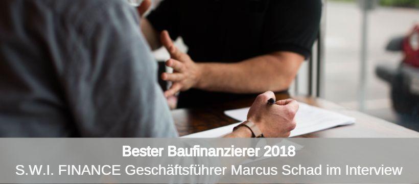 Bester Baufinanzierer Interview Marcus Schad
